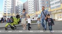 Nearly 500 large families of Minsk region received housing in the first half of the year